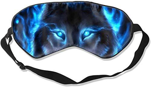 Natuurlijke Zijde Glad Oogmasker, Drukvrij Slaap Masker Verstelbare Blindfold, voor Volwassen Kinderen Tieners Slapen Shift Werk Naps Reizen Ooghoes, Zilveren Wolf Oogschaduw