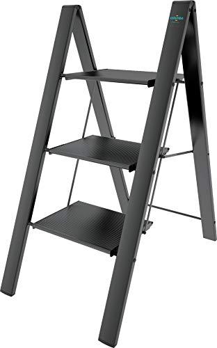 sgabello in alluminio anodizzato 3 gradini