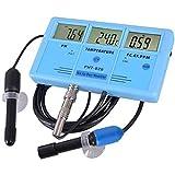 KTZAJO Instrumento preciso Detector de múltiples parámetros Acuario Online TDS Temperatura Conductividad Prueba Pluma EC/CF Herramienta de Análisis de Medición