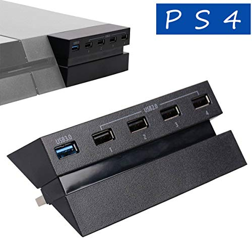 LinkStyle 5 Port HUB for PS4, USB 3.0 High Speed Charger Controller Splitter Expansion for Playstation 4 PS4 Console, Not for PS4 Slim, PS4 PRO