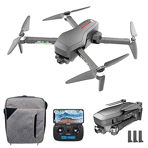 JJDSN RC Drone with Camera 4K 5G GPS WiFi 2-Axis Gimbal Brushless Quadcopter Optical Flow Positioning Track Flight Poi Flight Follow Me Gesture Photo Video Portable Backpack X7 PRO (Size : 3 Batt