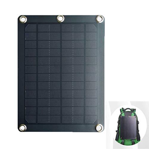 Luoshan Solaire Conseil de Charging, 8W 5v Efficace et Pratique Ultra-Mince Sac à Dos Panneau Solaire, adapté for la randonnée Chargeur Camping/Urgence