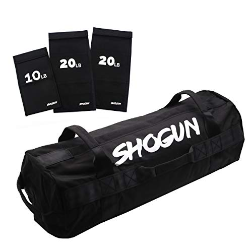 Shogun Sports Sandbag. Adjustable Weight Training Sandbag with Multiple Handles. Ideal for Cross-Training Workouts, Fitness and Military Conditioning. (Medium (20-75 LBS))