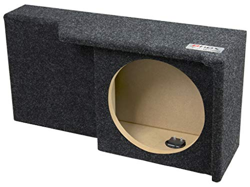 """Bbox A371-10CP Single 10"""" Sealed Carpeted Subwoofer Enclosure - Fits 2004 - 2008 Ford F150 Super Crew / Super Cab"""