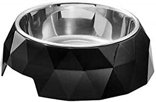 HUNTER KIMBERLEY Melamin-Napf, Futternapf, Trinknapf, für Hunde und Katzen, mit Edelstahlnapf, 350 ml, schwarz