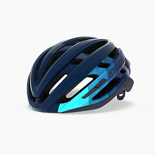 Giro Agilis MIPS Mens Road Cycling Helmet - Medium (55-59 cm), Matte Iceberg/Midnight Bars (2020)