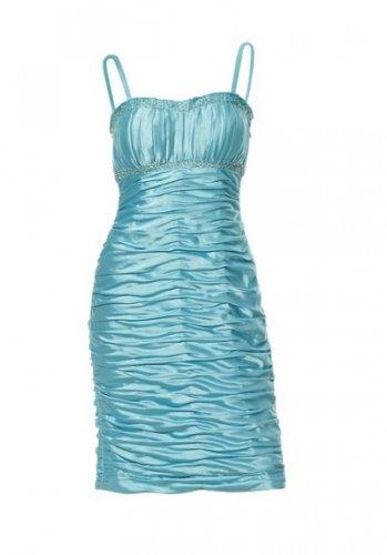 Heine Abendkleid Kleid cocktailkleid Türkis Gr. 34 36 38 40 Größe: 40-L