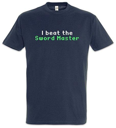 Urban Backwoods I Beat The Sword Master Herren T-Shirt Blau Größe L