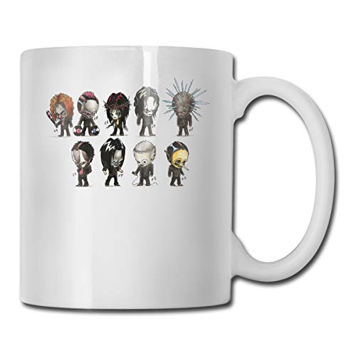 325 ml weiße Keramik-Kaffeetasse Slipknot Heavy Metal Band Logo Tassen weiß
