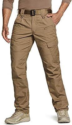 CQR Men's Tactical Pants, Water Repellent Ripstop Cargo Pants, Lightweight EDC Hiking Work Pants, Outdoor Apparel, Duratex(tlp108) - Coyote, 34W x 32L