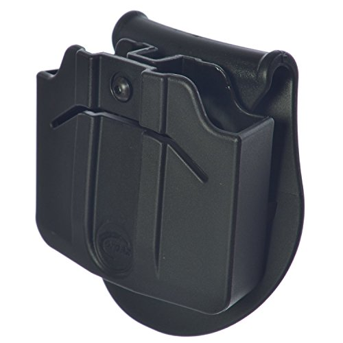 ORPAZ Defense Tactical adjustable 360 rotation, retention Double Magazine Pouch Paddle holster for Glock 17-19-22-23-31-32-34-35-26-25