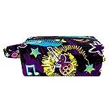 Bolsa de cosméticos para artículos de tocador de viaje bolso de negocios impermeable azteca patrón étnico 21x8x9 cm