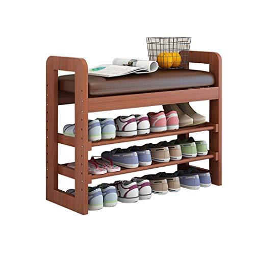 HEMFV Simplifique el banco de almacenamiento, Estante for zapatos Estante de almacenamiento de madera maciza natural Estante de almacenamiento de múltiples capas Estante de almacenamiento del organiza