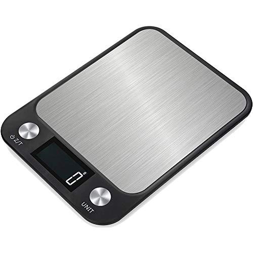 GPISEN Báscula Digitales de Precisión,15kg 8.9 * 6.5 Inch Balanzas de Portátiles,Báscula de Joyería,con Pantalla LCD y 7 Unidades,Plataforma de Acero Inoxidable, Tara, para Cocinar, Café -15kg x 1g