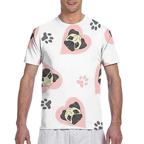 Nettes Mops-Puder-Herrenkomfort-weiches kurzärmliges T-Shirt
