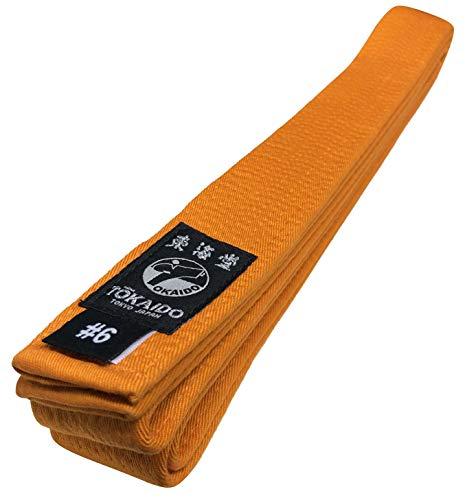 Tokaido Karategürtel orange   Orangegurt Karate Gürtel aus Baumwolle   Verschiedene Längen (285)