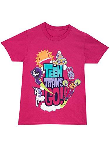 Teen Titans Go - Maglietta a maniche corte - Teen Titans - Ragazza - 7 a 8 Anni