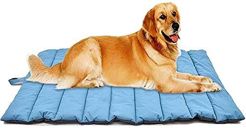 Huisdier nest Wasbaar Opvouwbare Pet Bed Waterproof Hond hondenmand Bed Portable Warm Non-Slip Pet Mat hok (Color : Blue)