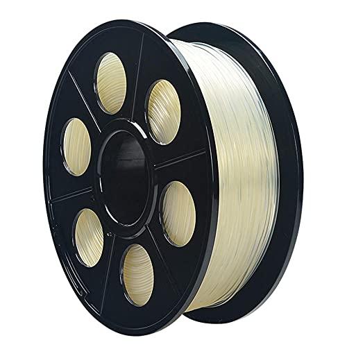 Nylon Filament 1.75mm 3D Printer PA Filament Accuracy +/- 0.03mm 1KG 2.2LBS Spool 3D Printing Filament for 3D Printers-Natural_1.75mm