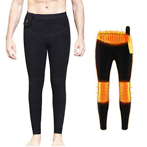 Yeah-hhi Ropa interior térmica eléctrica hombre mujer climatizada camisa/pantalones control de temperatura al aire libre ropa caliente para acampar pesca esquí, MAN1~B, XXL