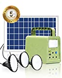 WAWUI Portable Power Station 84Wh with Solar Panel, Generator Kit with Flashlights...