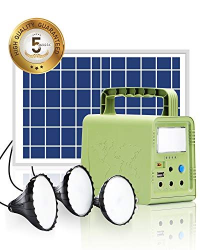 WAWUI Portable Power Station 84Wh - with Solar Panel, Generator Kit with Flashlights for Home Emergency Backup Power, Camping lights with Battery, USB DC Outlets, for Travel Fishing Hunting