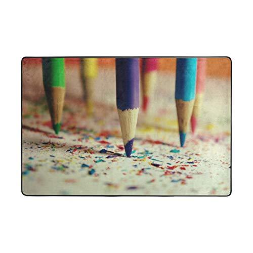 FANTAZIO gebied tapijten Kleurrijke Potlood Rechte Tapijt Gripper voor Hoeken en Edge Ideaal Tapijt Stopper Voor Keuken/Badkamer 72 x 48 inch 1 exemplaar