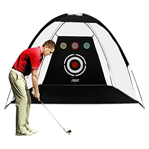 FLY CC Golf Training Net,Golf Aid Practice for Backyard Swing Hitting Chipping with Carry Bag And Golf Balls Indoor Outdoor Sports(10Ft),Black,6.6FT