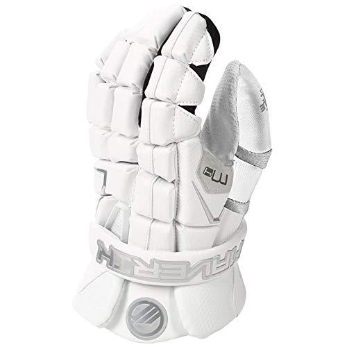 Maverik M4 Lacrosse Goalie Gloves White 12 inch