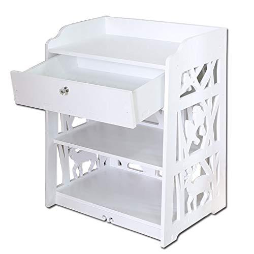Fuerte Mesita de Noche Simple Rack de Almacenamiento for Dormitorio, Organizador de...