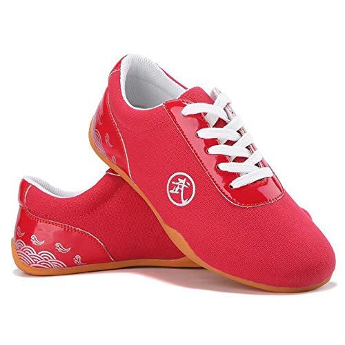 GHJUH Zapatos de Taekwondo Transpirables Zapatos de Tai Chi de Artes Marciales Chinas Tradicionales Taekwondo Boxing Kung Fu Tai Chi Zapatos Deportivos de Gimnasia para Adultos y niños