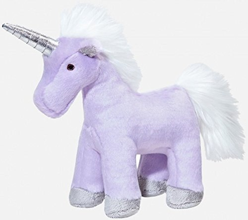 Fluff and Tuff Violet Unicorn Plush Dog Toy