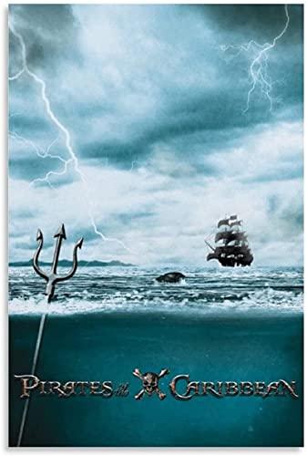 Arte De La Pared De La Lona 30x45cm Sin marco Póster de Piratas del Caribe, lienzo para decoración del hogar, impresiones de imágenes, sala de estar