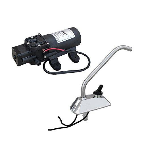 ECO-WORTHY 12V Membran Wasserpumpe + Wasserhahn 1.2GPM 35PSI selbstansaugend für Caravan RV Boot