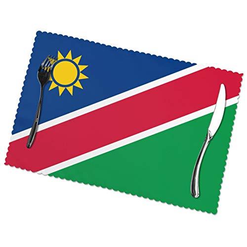 KAZOGU Home Tischsets 6er Set Originalität Namibia Flagge Tischsets Recycelt Leicht zu Reinigen Wärmedämmung Platzset