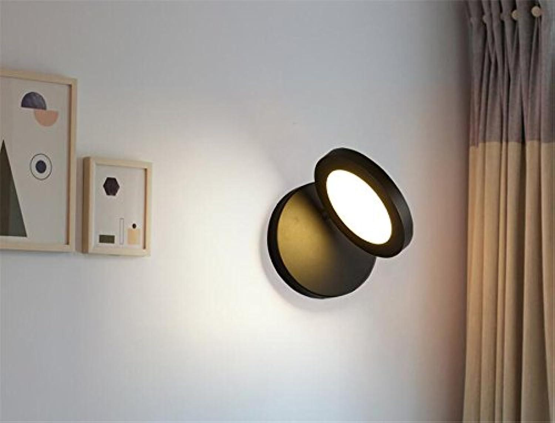 StiefelU LED Wandleuchte nach oben und unten Wandleuchten Wand lampe Nachttischlampe Schlafzimmer Wohnzimmer Wand, Lesen, Schwarz