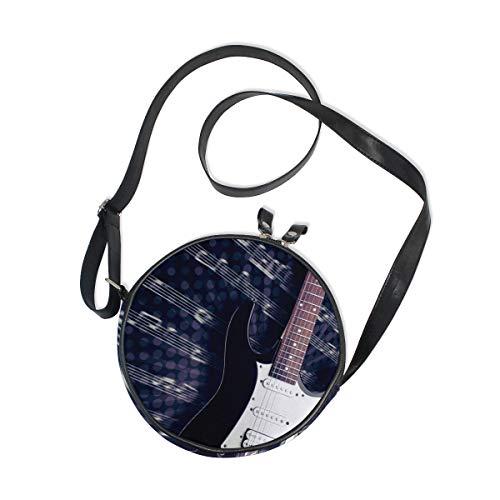 Ahomy - Bolso bandolera para guitarra eléctrica, diseño redondo