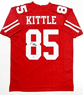 George Kittle Autographed Red Pro Style Jersey- Beckett Authenticated 8