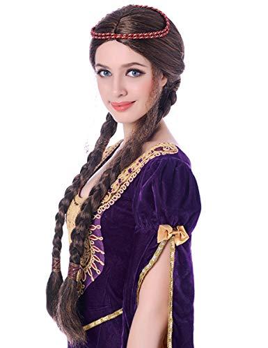 DEGUISE TOI - Perruque médiévale Femme - Taille Unique