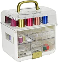 SINGER Sew-It-Goes-255 Piece Kit & Craft Organizer Sewing Case Storage with Metallic Embroidery Thread (11771)