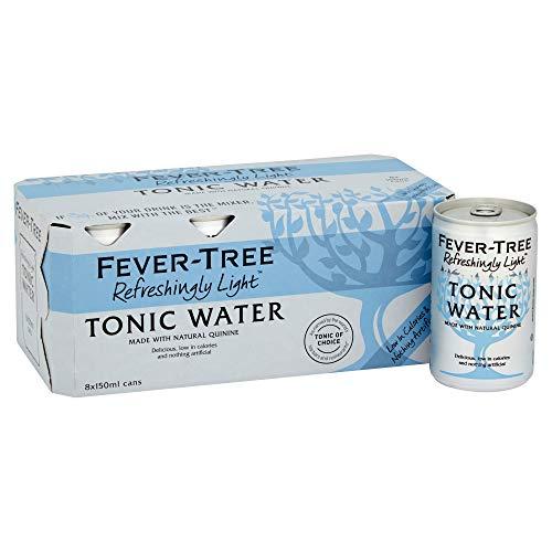 FEVER-TREE Premium Naturally Light Indian Tonic Water 8x 150ml