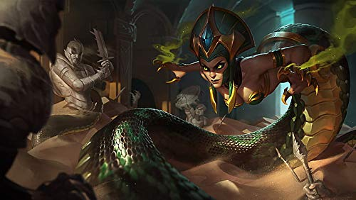 Poster World Cassiopeia Girl Snake Splash Art Video Game League Of Legends - Póster (30,5 x 45,7 cm), diseño de chica