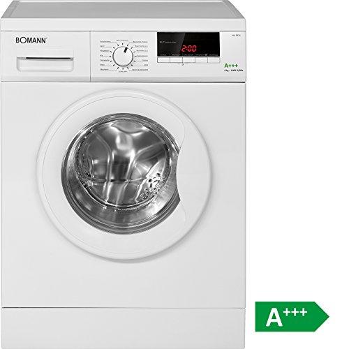 Bomann WA 5834 Waschmaschine FL / A+++ / 196 kWh/Jahr / 1400 UpM / 8 kg / 11000 L/Jahr / 8 kg Fassungsvermögen