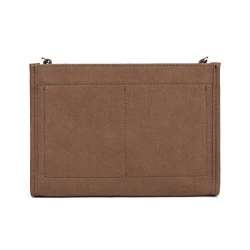 Bolsa organizadora de fieltro compatible con bolso LV 26 19 (LV Pouch 26 Brown)