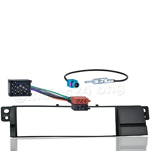 Meins24 10515201 Kit de montage pour autoradio avec support d'encadrement + câble adaptateur + adaptateur d'antenne FAKRA pour BWM série 3 E46 à partir de l'année de construction 5/98