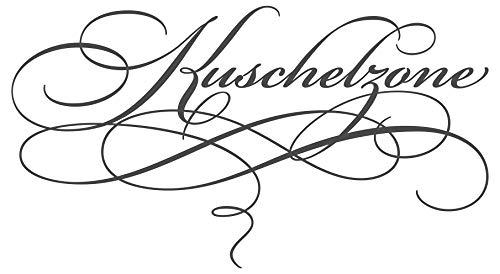 dekodino® Wandtattoo Spruch Schlafzimmer Kuschelzone Dekoration