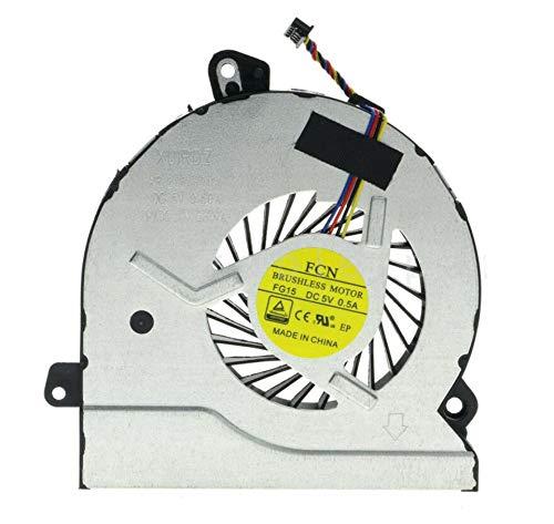 HuiHan Reemplazo para ventilador de refrigeración de CPU HP Pavilion Gaming 15-AK 15-AK011TX 15-AK012TX 15-AK013TX
