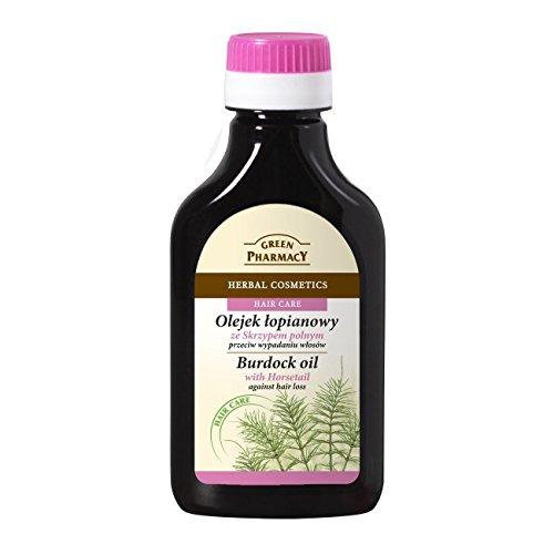The Green Pharmacy Aceite Anticaída, estimulador del crecimiento a base de Raiz de Bardana y Cola de Caballo 100 ml