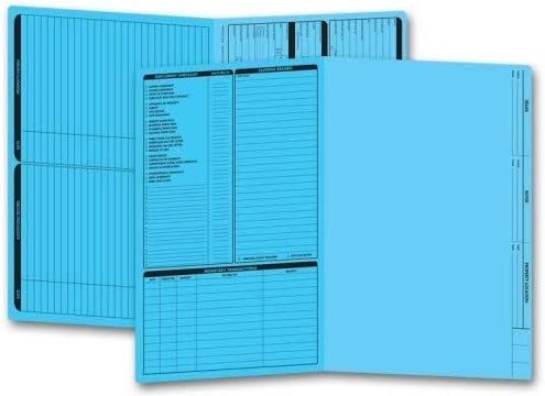 Folder New product! New type for Easy-to-use Real Estate Listing Panel Size Folders~Blue Left 50