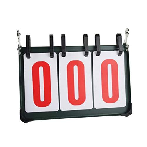 BESPORTBLE 1Pc Marcador Marcador Flipper Score Keeper Tres Marcadores Indicador de Puntuación para Evento Deportivo de Tenis de Mesa de Bádminton